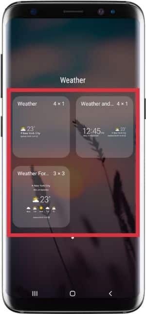 cara menampilkan suhu dan cuaca di layar home samsung