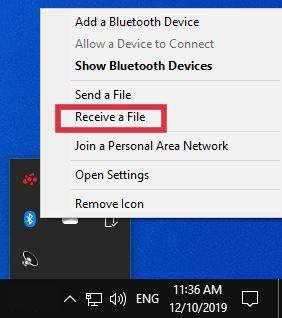 cara menerima file lewat bluetooth dari hp ke laptop windows 10