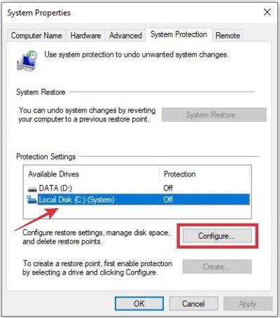 cara mengaktifkan sistem restore poin di windows