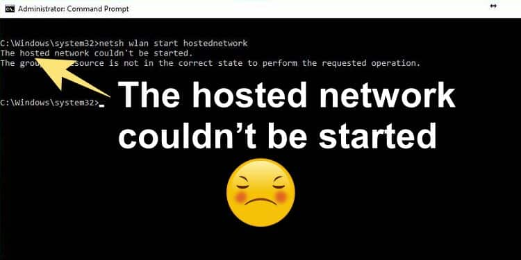 cara mengatasi The hosted network couldnt be started di windows