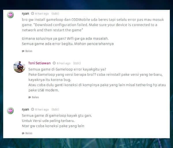 cara mengatasi download configuration failed di cod mobile gameloop
