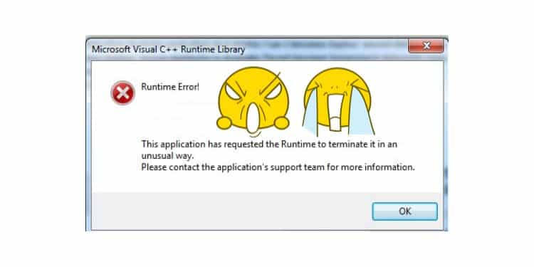 cara mengatasi runtime error di windows