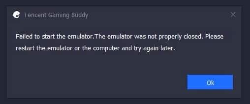 cara mengatasi tencent gaming buddy error