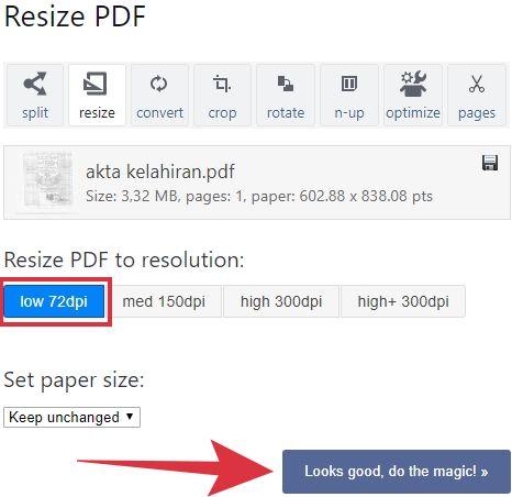 cara mengecilkan file pdf 300 kb secara online