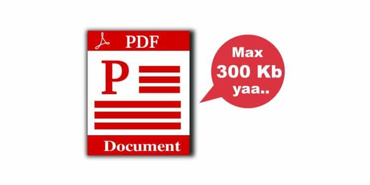 cara mengecilkan pdf 300 kb