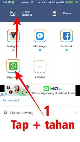 cara menggunakan 2 akun whatsapp dalam 1 hp 5