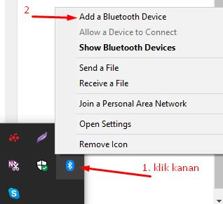 cara menggunakan headset bluetooth di Windows 7