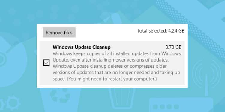 cara menghapus file sisa update windows 10