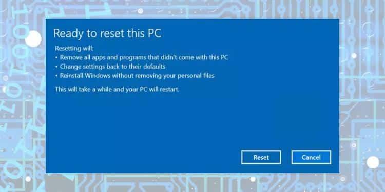 cara reset install ulang windows 10 tanpa kehilangan data