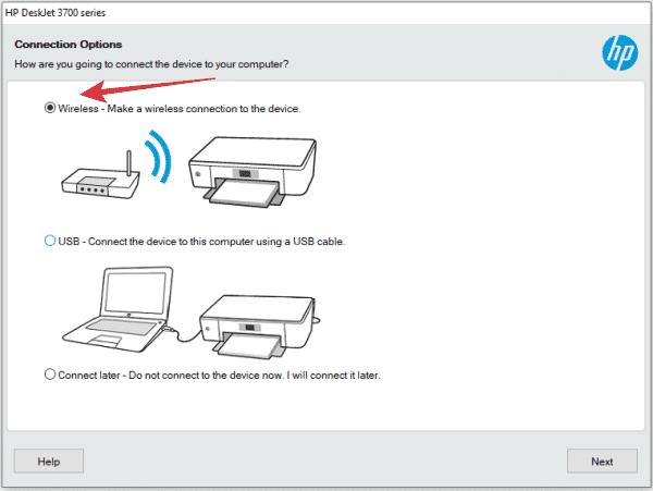 cara setup WiFi printer hp deskjet 3775