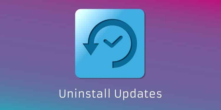 cara uninstall atau menghapus update di windows 10
