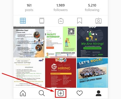 cara upload foto dan video instagram dari pc atau laptop 3