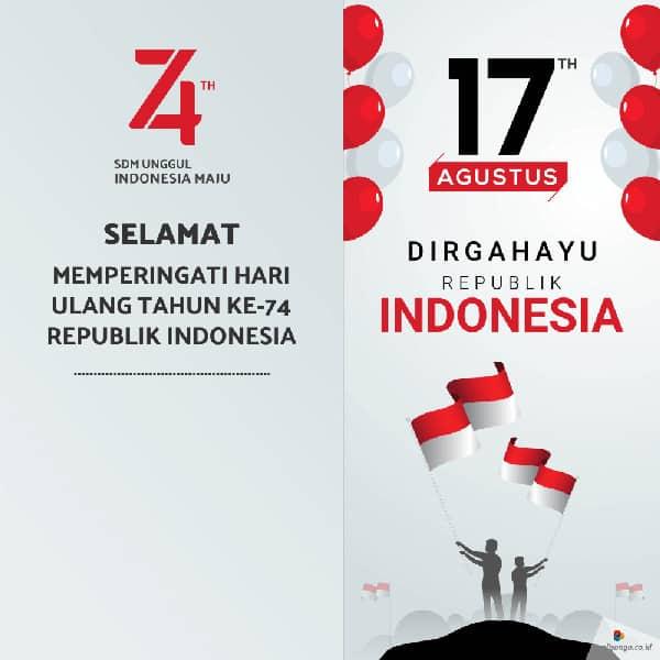 contoh desain poster hut kemerdekaan ri ke 74 13