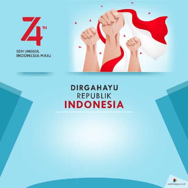 contoh desain poster hut kemerdekaan ri ke 74 14
