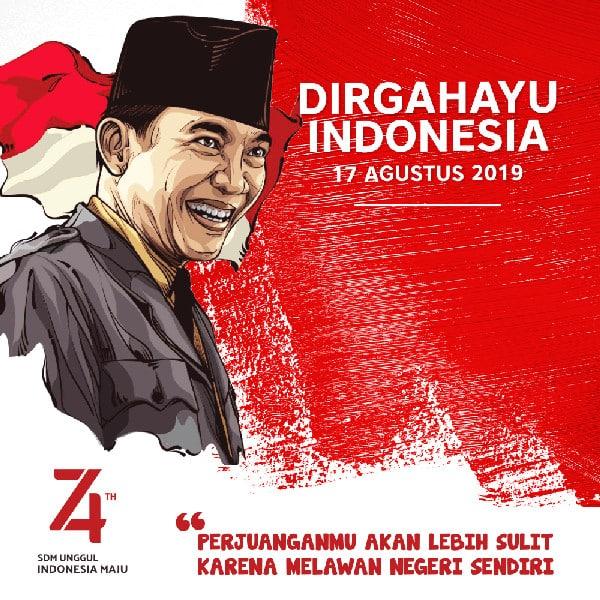 contoh desain poster hut kemerdekaan ri ke 74 2