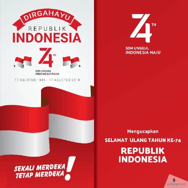 contoh desain poster hut kemerdekaan ri ke 74 5