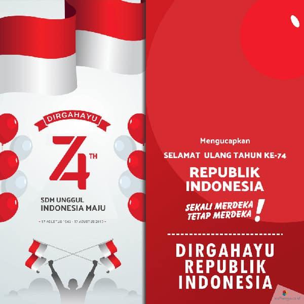 contoh desain poster hut kemerdekaan ri ke 74 6