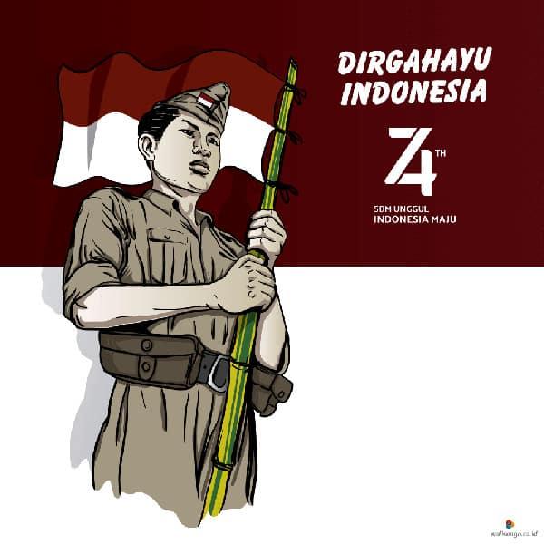 contoh desain poster hut kemerdekaan ri ke 74 9