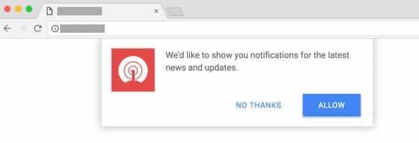 daftar situs yang bisa menampilkan notifikasi iklan di windows