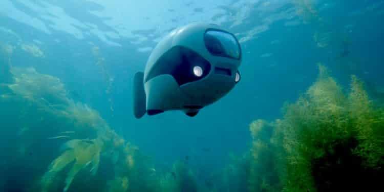 drone penyelam bawah air laut