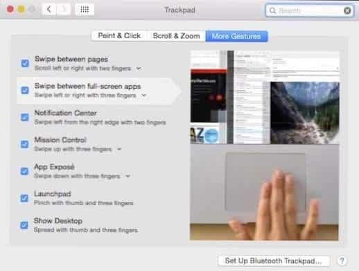 fitur trackpad macbook more gesture