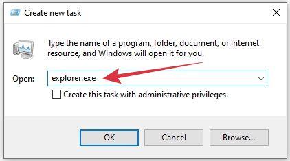 jalankan windows explorer secara manual