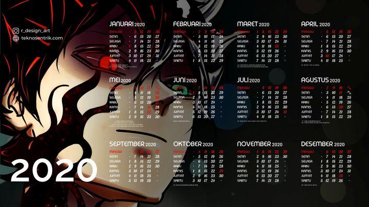 kalender 2020 background anime black clover