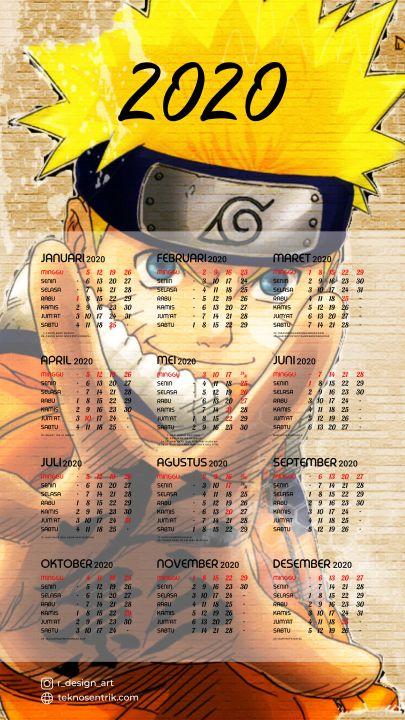 kalender 2020 background anime naruto