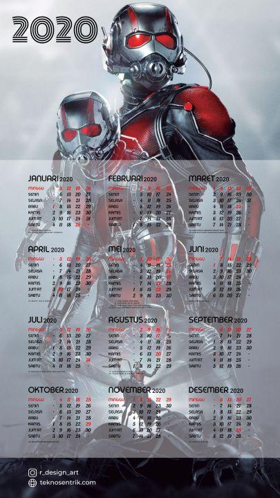 kalender 2020 background ant man avenger