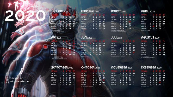 kalender 2020 background ant man marvel