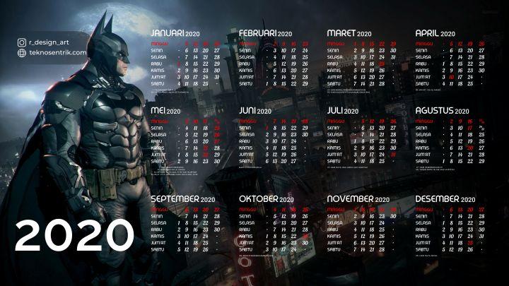 kalender 2020 background batman keren