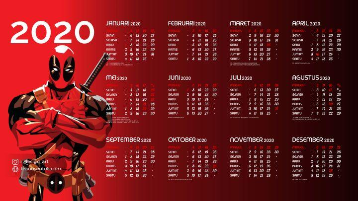 kalender 2020 background deadpool