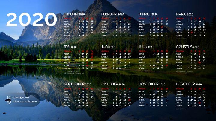 kalender 2020 background gunung