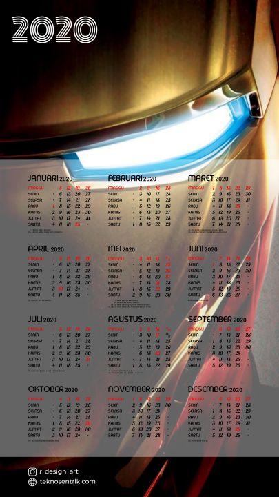 kalender 2020 background iron man