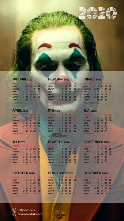kalender 2020 background joker
