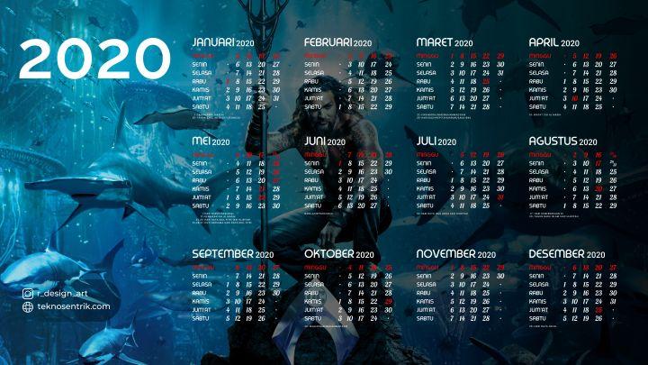 kalender 2020 background keren aquaman
