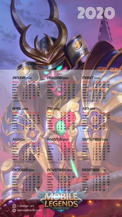 kalender 2020 background mobile legend