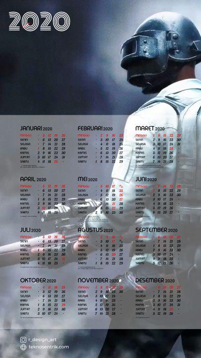 kalender 2020 background pubg mobile