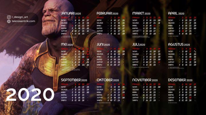 kalender 2020 background thanos