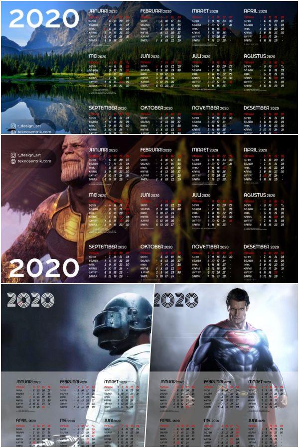 kalender 2020 desain poster