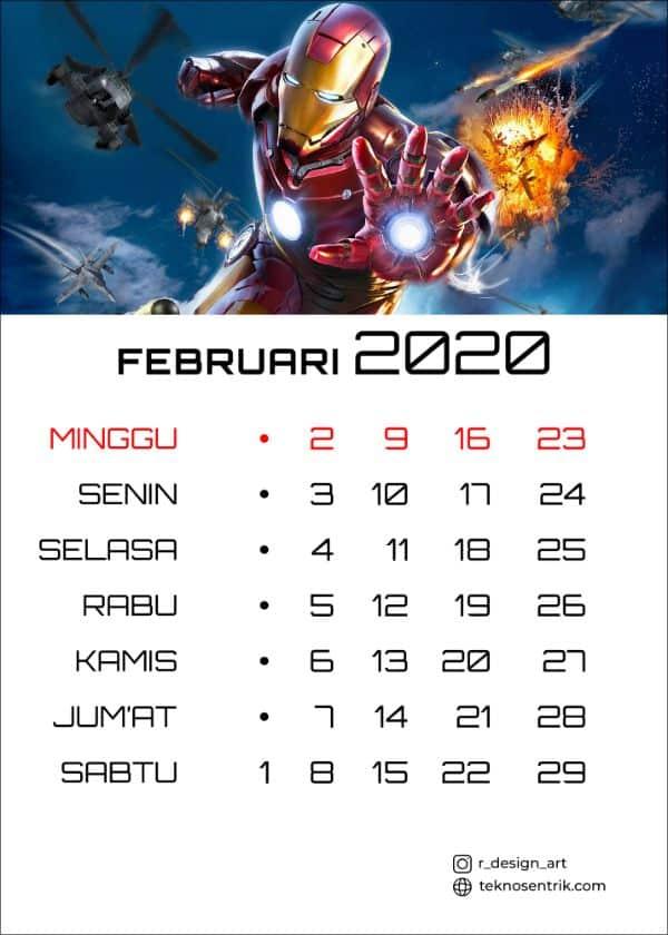 kalender februari 2020