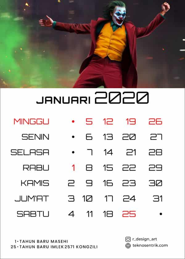 TOP] Download Kalender 2020 Indonesia (JPG, PNG, PDF, CDR)