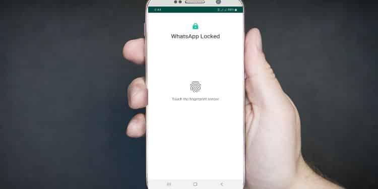 langkah langkah mengaktifkan kunci sidik jari whatsapp