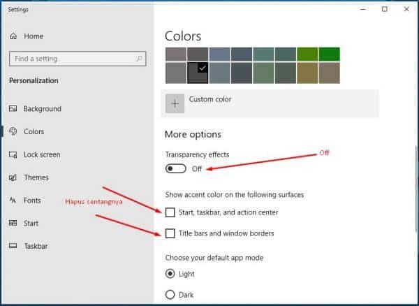 matikan efek yang tidak penting untuk mengatasi windows 10 yang lambat