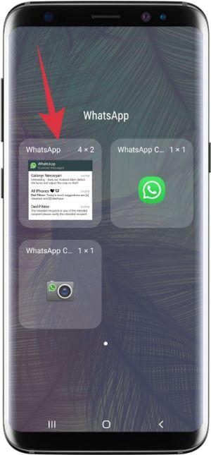 memasang widget pembaca pesan whatsapp ke home