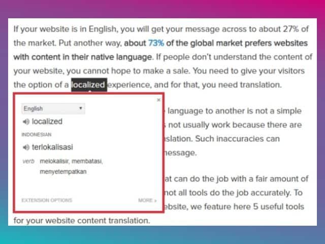 menerjemahkan bahasa inggris otomatis di pc