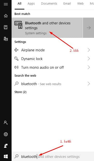 mengaktifkan headset bluetooth di Windows 10