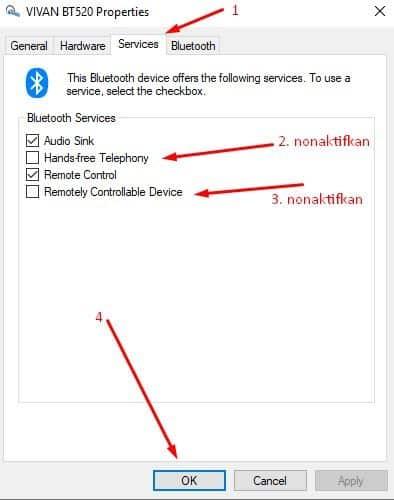 mengatasi suara headset bluetooth hilang di windows 10 3