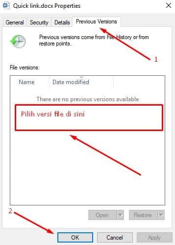 mengembalikan file word dan excel yang tertimpa tanpa aplikasi