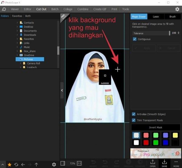 menghilangkan dan mengganti warna latar belakang foto di windows 10